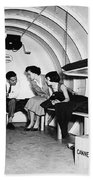 Bomb Shelter, 1955 Bath Towel