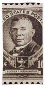 Booker T Washington Postage Stamp Bath Towel