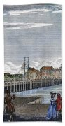Boston: Charles River, 1789 Bath Towel