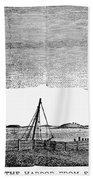 Boston Harbor, 1776 Bath Towel