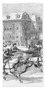 Boston: Sleighing, 1854 Bath Towel