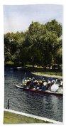 Boston: Swan Boats, C1900 Bath Towel
