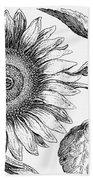 Botany: Sunflower Hand Towel