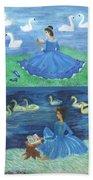 Both Swan Lake Readers Bath Towel