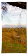 Branch Over River Bed Bath Towel