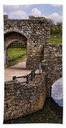 Bridge At Leeds Castle Bath Towel