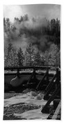Bridge In Mud Volcano Area Bath Towel