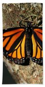 Bright Orange Monarch Butterfly Bath Towel