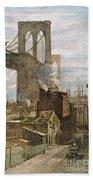 Brooklyn Bridge, 1882 Bath Towel