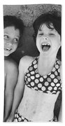 Brother And Sister On Beach Bath Towel