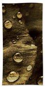 Brown Drops Of Rain Bath Towel