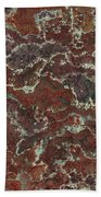 Brown Stone Abstract Bath Towel