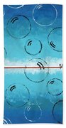 Bubbles Of Energy On A Blue Horizon Hand Towel
