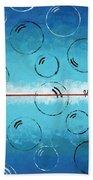 Bubbles Of Energy On A Blue Horizon Bath Towel