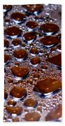 Bubbles Of Steam Cherry Wine Red Bath Towel