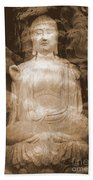 Buddha And Ancient Tree Bath Towel