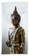 Buddha Statue With A Golden Robe Bath Towel
