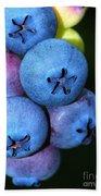 Bunch Of Blueberries Bath Towel