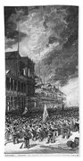 Burning Of Colon, 1885 Bath Towel