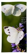 Butterflies - Cabbage White - Enjoyed The Togetherness Bath Towel