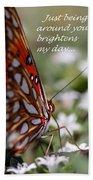 Butterfly Friendship Card Bath Towel