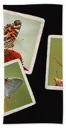 Butterfly Picture Page Collage Bath Towel