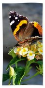 Butterfly Sipping Lantana Luscious Lemonade   Bath Towel