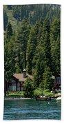 Cabins On The Lake Tahoe Bath Towel