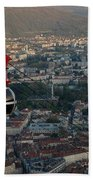 Cable Car In Grenoble  Bath Towel