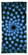Cacti Blues Bath Towel
