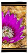 Cactus Flower 4 Bath Towel