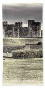 Caerphilly Castle Cream Bath Towel