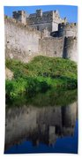 Cahir Castle, River Suir, County Bath Towel