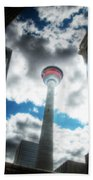Calgary Tower Hdr Bath Towel