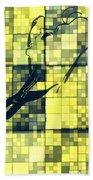 Caliente Geometric Yellow Bath Towel