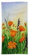 California Poppies Field Bath Towel