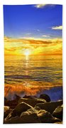 California Sunset Bath Towel
