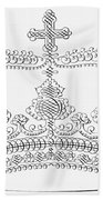 Calligraphy Crown Bath Towel