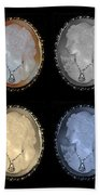 Cameo In Quad Colors Hand Towel