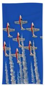 Canadian Air Force - Snowbirds Bath Towel