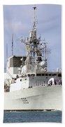 Canadian Navy Halifax-class Frigate Bath Towel