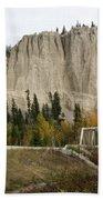 Canadian Rocky Mountains Hoodoos Bath Towel