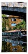 Canal Boats Bath Towel