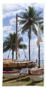 Canoes At Hui O Waa Lahaina Maui Hawaii Bath Towel