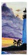 Cape Florida Lighthouse Hand Towel