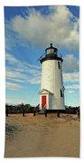 Cape Pogue Lighthouse Marthas Vineyard Hand Towel
