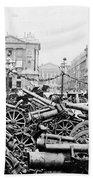 Captured German Guns At Palace De La Concorde In Paris - France Bath Towel