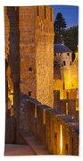 Carcassonne Ramparts Bath Towel
