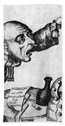 Caricature Of Two Alcoholics, 1773 Hand Towel