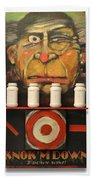 Carny With Type Poster Bath Towel